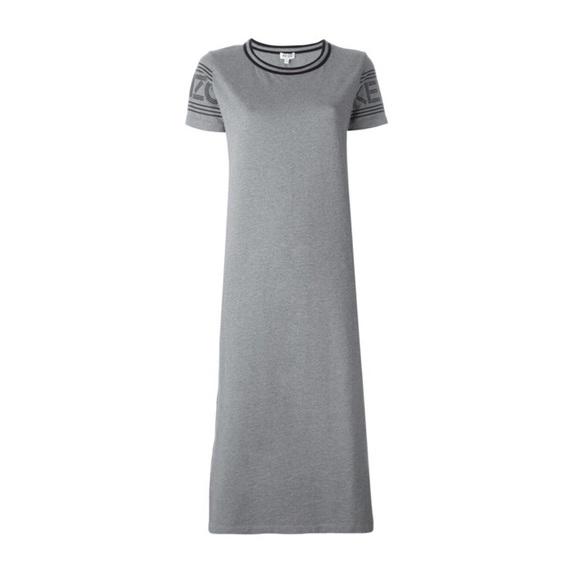 d3887abec4 Kenzo Dresses & Skirts - ♡ KENZO Midi Sport T-Shirt Dress in Gray ♡